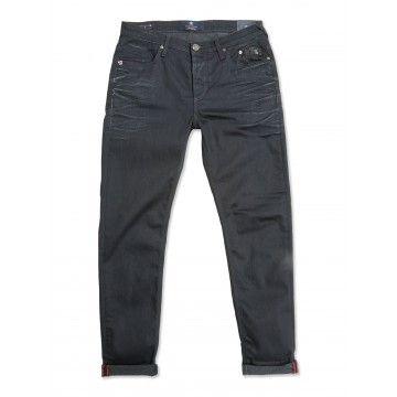 BLUE DE GENES - Herren Jeans - Repi Cana Coated Jeans - Black