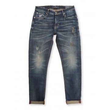 BLUE DE GENES - Herren Jeans - Vinci Pala Rough Jeans - Vintage Blue