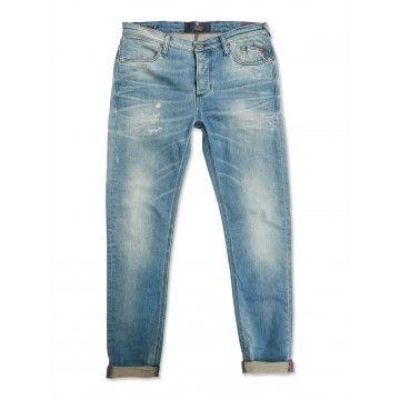 BLUE DE GENES - Herren Jeans - Repi Engreen Treated Jeans - Light Vintage Blue