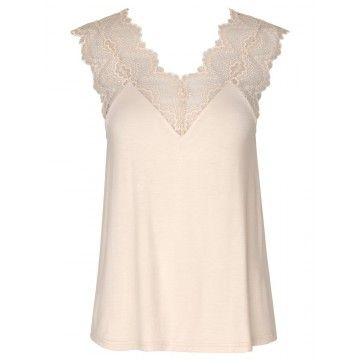 ROSEMUNDE - Damen Top - Whisper Beige