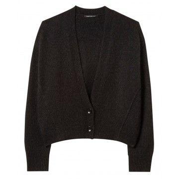 LUISA CERANO - Damen Cardigan - Oversized Cardigan - Black