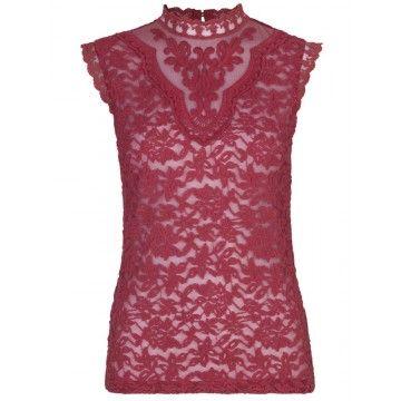 ROSEMUNDE - Damen Top - Scarlet Red