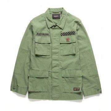 DEUS EX MACHINA - Herren Hemd - Herren Ripstop Jungle Shirt - Military Green
