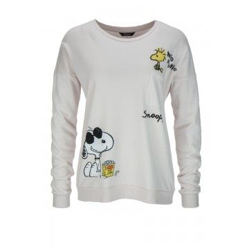 PRINCESS GOES HOLLYWOOD - Damen Sweatshirt - Snoopy Fluffy Sweaty - Powder Puff