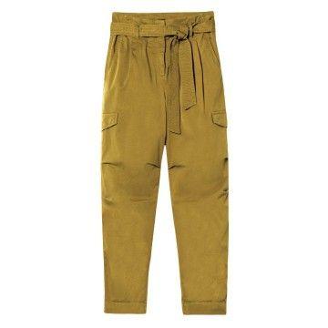 LUISA CERANO - Damen Hose - Paperbag-Pants im Cargo-Stil - Pea