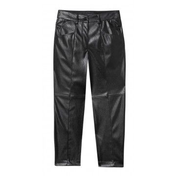LUISA CERANO - Damen Hose - Tapered in Fake-Leather-Black