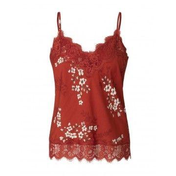 ROSEMUNDE - Damen Strap Top - Red Cherry