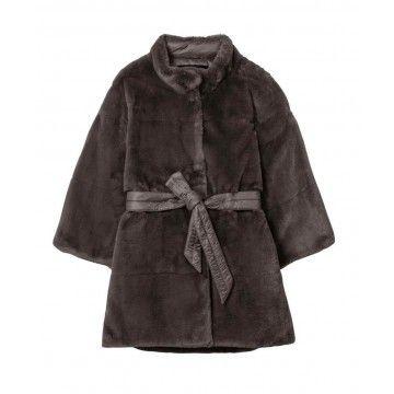 LUISA CERANO - Damen Jacke - Fake-Fur - Warm Grey