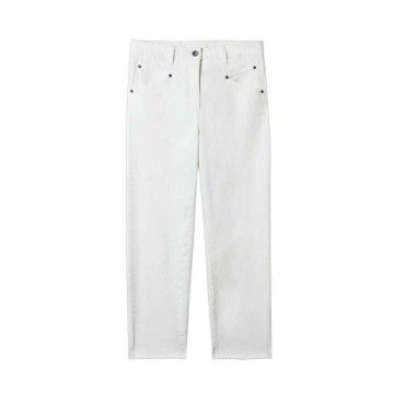 LUISA CERANO - Damen Hosen - Tapered Denim - Chalk