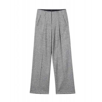 LUISA CERANO Damen Hose - Widerleg-Pants Donegal Tweed - Grey Melange