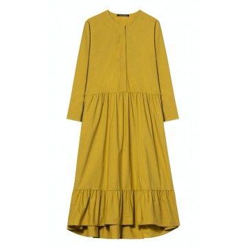 LUISA CERANO - Damen Kleid - Popeline Kleid - Saffron