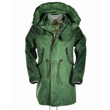 GJO.E - Herren Parka TLC + Down Jacket - Vintage Green