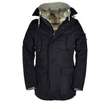 GJO.E - Herren Winter Jacke 29 + Goose Down - Black/Beige