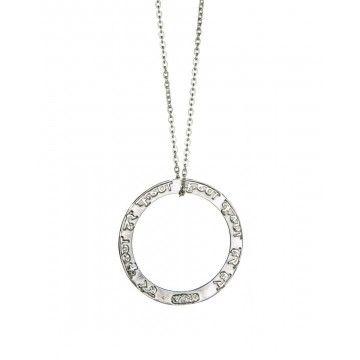 EINS BERLIN - Halskette - Maha Mantra Silber - Schwarzes Stoffband