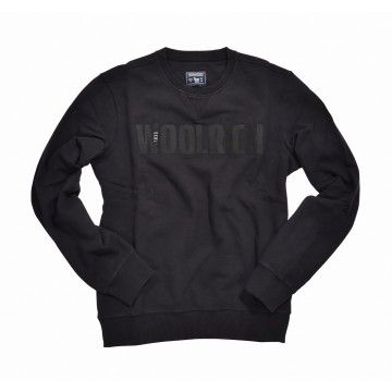 WOOLRICH - Herren Pullover - Brushed Crew Neck - Black