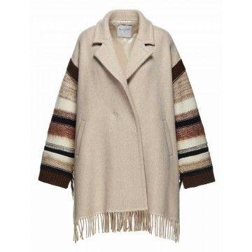 BEATRICE.B - Damen Poncho - Coat 2328 Fabric ATH38 B. - light Camel