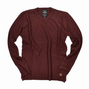 BLUE DE GÊNES - Herren Pullover - Tondo Knit - Wine Red