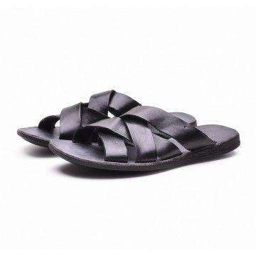 BRADOR - Herren Sandale- T/CAPO - schwarz
