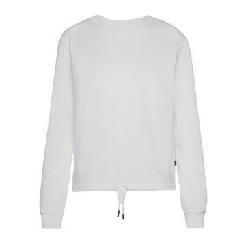 WOOLRICH - Damen Sweater - W'S Fleece Crew Neck - White
