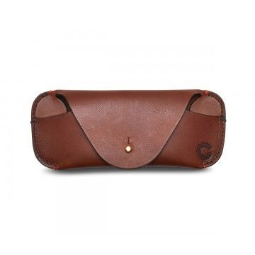 Croots - Leder Brillenetui - Vintage Leather - Port
