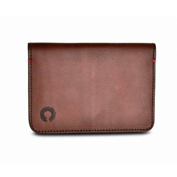 Croots - Leder Passport Holder - Vintage Leather Folding Wallet - Port -