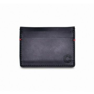 Croots - Leder Card Holder - Vintage Leather - Black