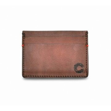 Croots - Leder Card Holder - Vintage Leather - Port