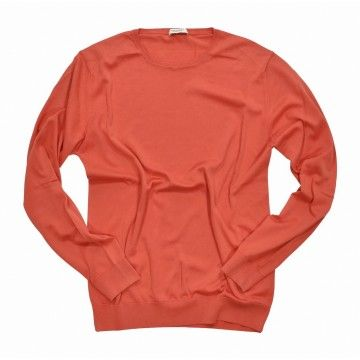 CROSSLEY - Herren Feinstrick - Organic Crew Neck - Dyed Red