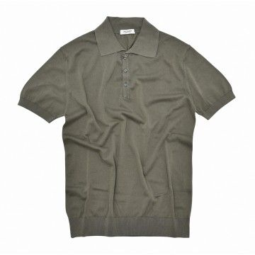 CROSSLEY - Herren Polo-Shirt - Organic Man Knit Polo - Khaki