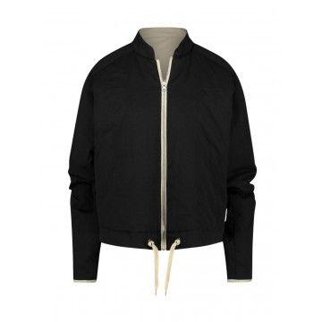 PENN & INK - Damen Jacke - Reversible Coat - Black/Sand