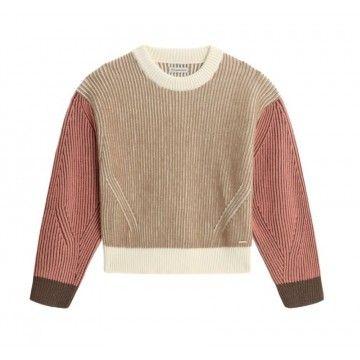 WOOLRICH - Damen Pullover - Soft Wool Turtlenecks Sweater - Alaskan Brown Block