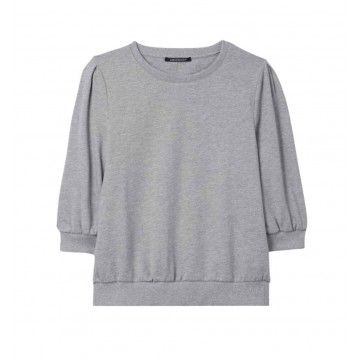 LUISA CERANO - Damen Sweatshirt - 3/4 Arm - Light Grey