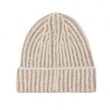 LUISA CERANO - Damen Mütze - aus Alpaka-Mix - Panna Cotta