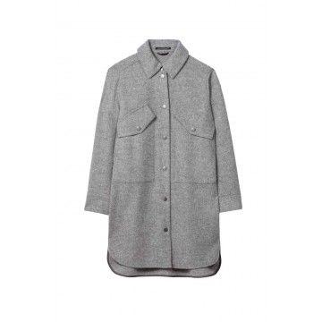 LUISA CERANO - Damen Overshirt - aus Woll-Mix - Light Grey