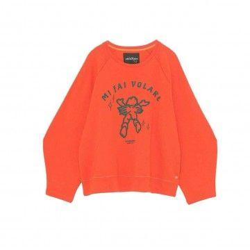 OTTOD´AME - Damen Sweater - Maglia Shirt - Arancione