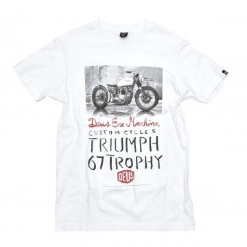 DEUS EX MACHINA - Herren T-Shirt - Triumph Trophy Tee - White