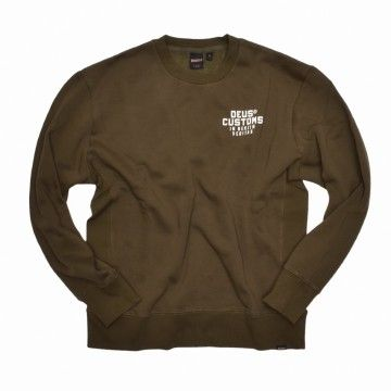 DEUS EX MACHINA - Herren Sweater - Octane Reignbow Crew - forest green