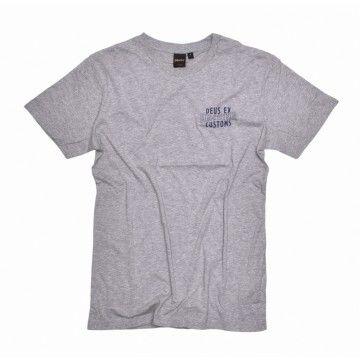DEUS EX MACHINA - Herren T-Shirt - Patriot Tee - Grey Marle