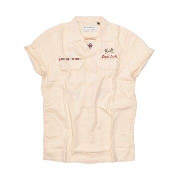 DEUS - Herren Hemd - Castillo Shirt - Seedpearl - Faded sand