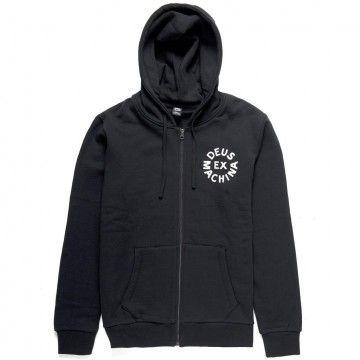DEUS EX MACHINA - Herren Hoodie - Circle Logo Zip Hoodie - Black