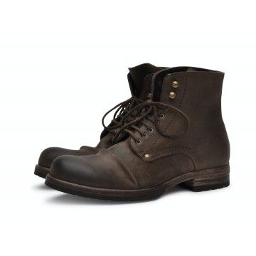 SHOTO - Herren Schuhe - 5998 Kudu Leder - Mud Brown