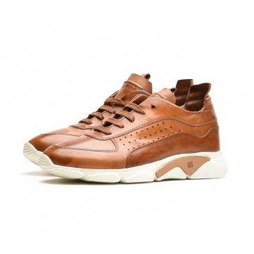 MOMA - Herren Sneaker - Allacciata Uomo Murano - Cuoio Sneaker - Braun