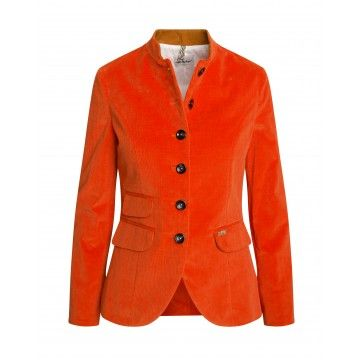 LUIS TRENKER - Damen Blazer - Randa Cord Stretch - Orange