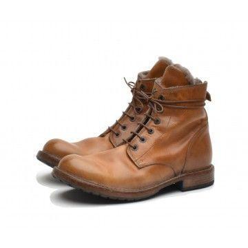MOMA - Herren Schuhe - Tronchetto Uomo Texas Cuoio - Rehbraun