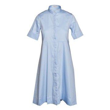 SOLUZIONE - Damen Kleid - Midikleid - Blau