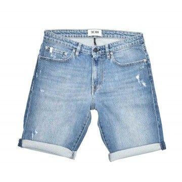 THE.NIM - Herren Shorts - Denim 902 Short - Light Destroyed