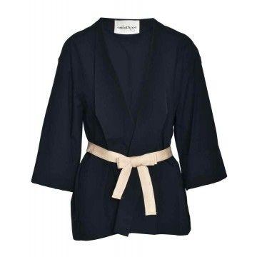 OTTOD´AME - Damen Kimono - Giaccia Jacket - Blu