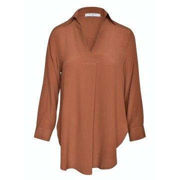 BEATRICE.B - Damen Bluse - Camicia Tessuto - Ruggine