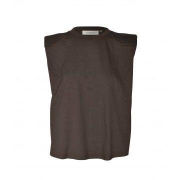 COPENHAGEN MUSE - Damen Shirt - CMFAY TEE - Major Brown