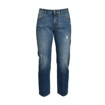 THE.NIM - Damen Jeans - Janis Woman Jeans Relaxed Straight - Medium Repaired